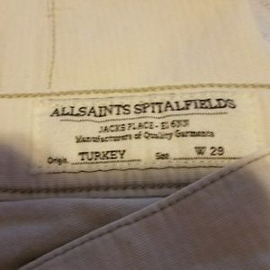 All Saints skinny jeans with leg insets & zippers