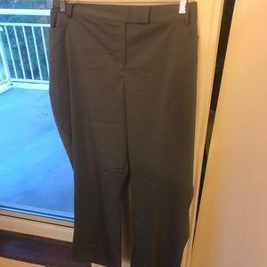 Gray Pinstripe Plus Size Boot Cut Dress Pants 26