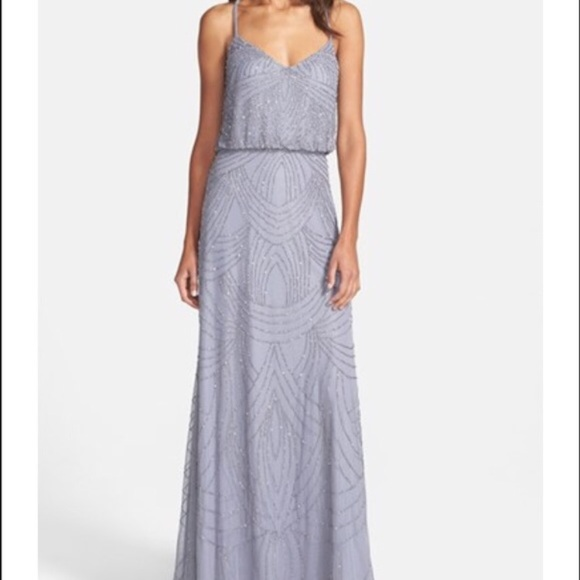 c43ed704bd1 Adrianna Papell Dresses   Skirts - Adrianna Papell beaded blouson gown  silver grey