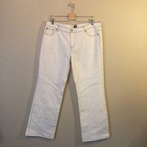 Nicole Miller White / Black Trim New Jeans