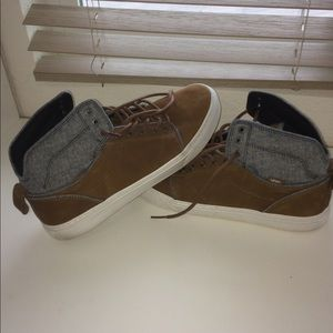 e09d8a1207 Vans Shoes - Vans Bedford Leather Brown and Denim Blue Sneakers
