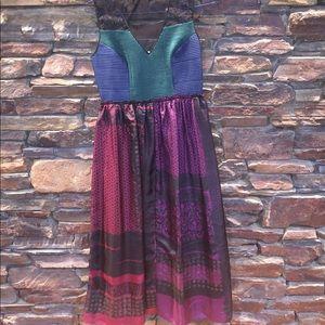 Anthropologie multicolor dress