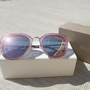 Pink Cat Eye Dior Geometric Sunglasses