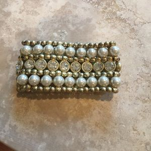 Costume Pearl and crystal bracelet