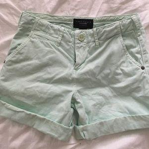 Sanctuary Mint Shorts