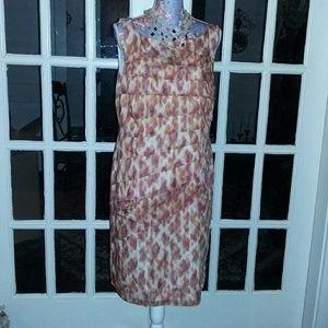 Ann Taylor Fall Colors Silk Dress