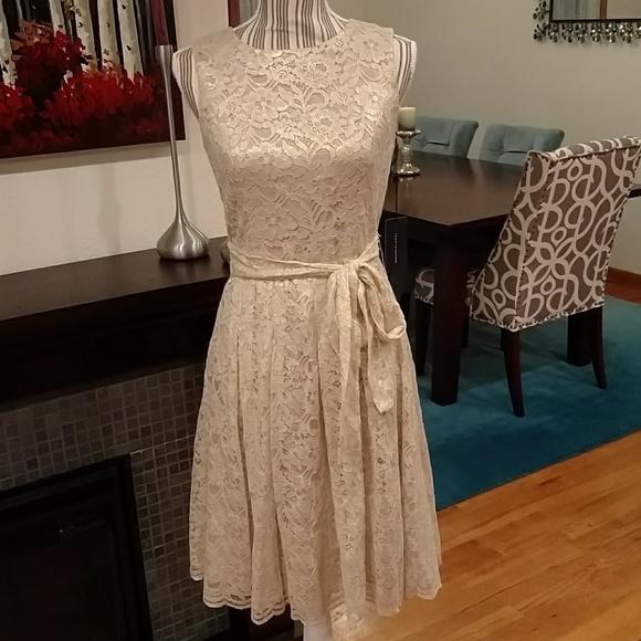 Tommy Hilfiger Dresses   Final Reduction Gold Lace Dress   Poshmark