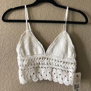 Billabong crochet crop top small