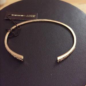 NWT Henri Bendel bracelet rose gold with crystals