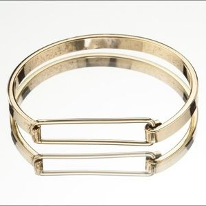 Snash ID bracelet - hinged bangle in gold