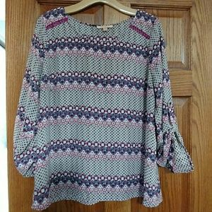 Ladies Skies are Blue Size Large Blouse