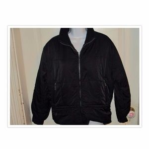 Eddie Bauer Black Puffer Coat SZ L