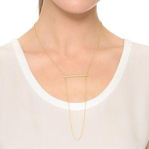 NWT Rebecca Minkoff Bar Ladder Necklace in gold