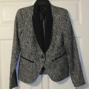 Grey Tweed Tuxedo Jacket Mossimo Size 10 NWT