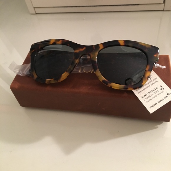 3def1a69fa1a TOMS Chelsea Blonde Tortoise Zeiss Sunglasses
