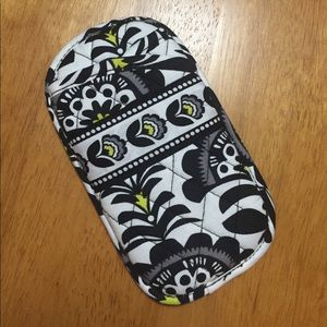 Vera Bradley Double Eye Glasses Case Pouch Fanfare