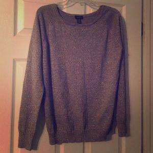 Gray/silver sweater
