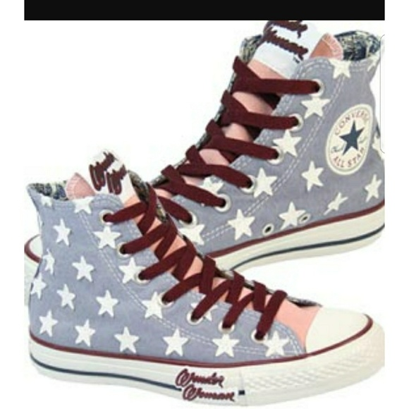1f07bc42129e Converse Shoes - Hard to Find Converse Hi Top Wonder Woman Size 7.5