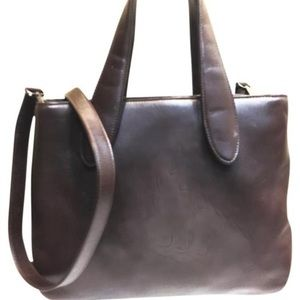 Bally Bags - Bally brown leather satchel shoulder bag 360bff4c81057