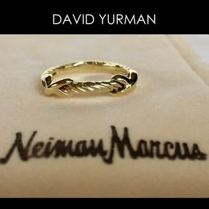 Authentic DAVID YURMAN Gold Ring X Collection $775