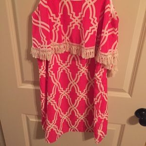 Pink boutique dress worn ONCE!