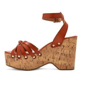 Women's Erie Wood Flatform Wedge Sandals Mossimo