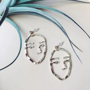 Jewelry - Gold Opening Ceremony Sister Face Earrings