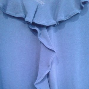 Ruffled Blouse with Free Vest