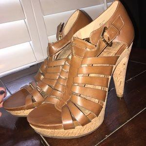 Gladiator Cork Heels