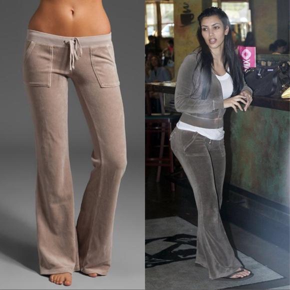 Juicy Couture Pants Jumpsuits Butt Pocket Velour Pants Usa Kim K Poshmark