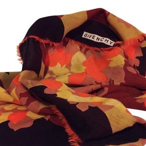 Vintage Givenchy 1970s floral scarf