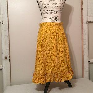 Vintage 50s Handmade Cotton Skirt