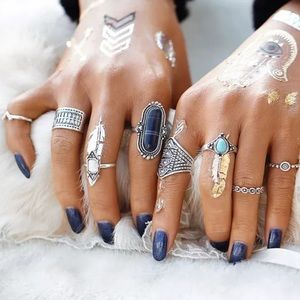 Jewelry - 💥8 Pcs Knuckle and Midi Ring Set! 5⭐️ Rated!