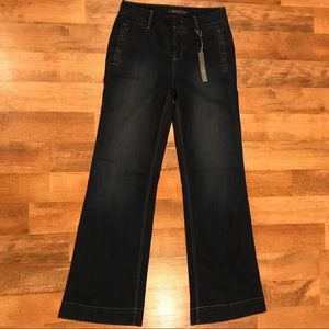NWT Anthropologie Level 99 Wide Leg Trouser Jeans