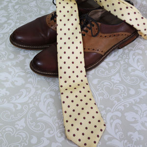 Other - Classic Pale Yellow Silk Tie