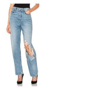 GRLFRND Nena High Rise Jean in Blue.