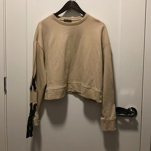 Zara collection sweatshirt- color is nude SZ S