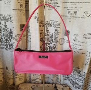 Kate Spade Vintage Pink Nylon baguette handbag