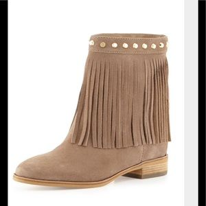 Michael Kors Billy Studded Fringe Bootie 9.5 NWT