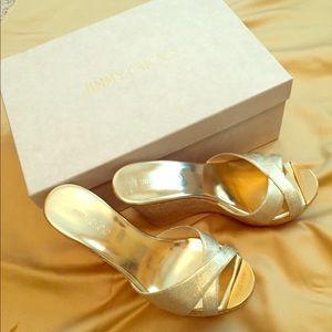 Jimmy Choo Premium Cork Wedge Sandals