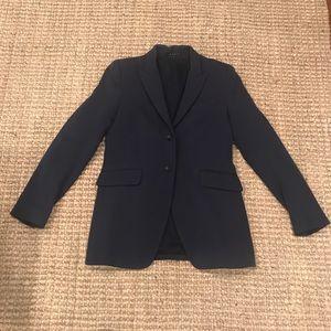 Long wool navy Theory blazer sz 10