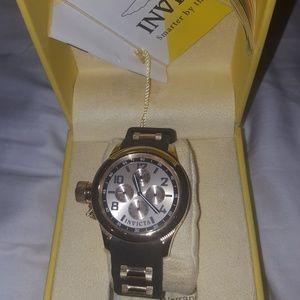Invicta Black & Gold Watch