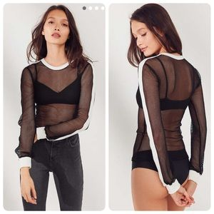 URBAN OUTFITTERS BLACK FISHNET LONG SLEEVE