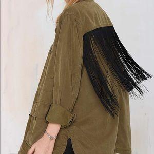 BlankNYC Fringe Utility Jacket