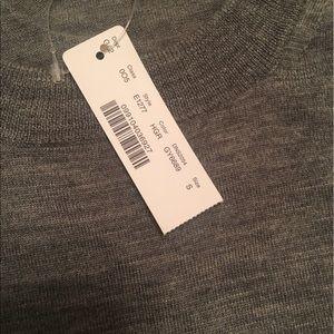 Jcrew grey 100% merino wool sweater