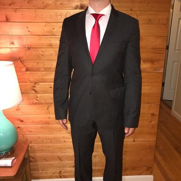0fadfdc4 Hugo Boss Suits & Blazers | 895 Jam 75 Sharp 3 Dark Grey Suit 42l ...