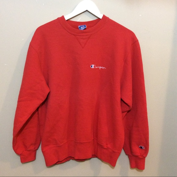 e1dcf98c160d Champion Other - Red Vintage 90s Champion Sweatshirt Logo USA XL