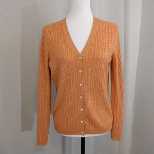 Silk & Cashmere Blend Cardigan by Brooks Brothers