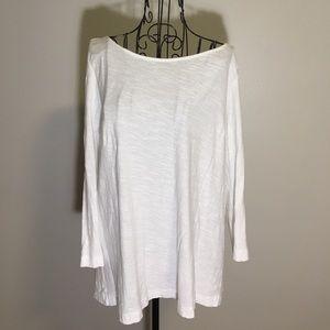 Michael Stars Zipper Back White Shirt