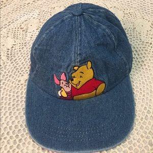 1990s Vintage Pooh & Piglet Denim Cap